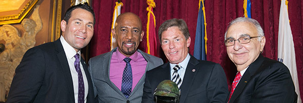 FVVP Board Member Douglas McGowan, Featured Speaker Montel Williams, Honoree Kenneth Fisher and FVVP Chairman Robert DiChiara
